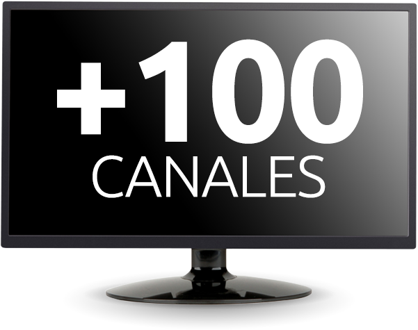 television 100 canales